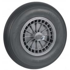 WIEL 400X8 GRIJS SOFTWIEL PVC NAALDLAGER 20 CM AS (VERNIEUWD ART. VOOR