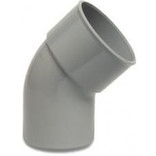 BOCHT 45° PVC-U 90 MM LIJMMOF X SPIE GRIJS KOMO
